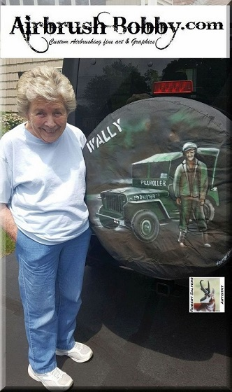 Airbrushed Wheel Covers Airbrushed Tire Covers Custom